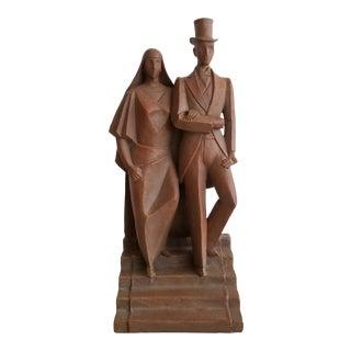 Art Institute of Chicago Arnold Rönnebeck London Wedding Reproduction Sculpture For Sale