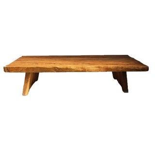 Elm Slab Coffee Table For Sale