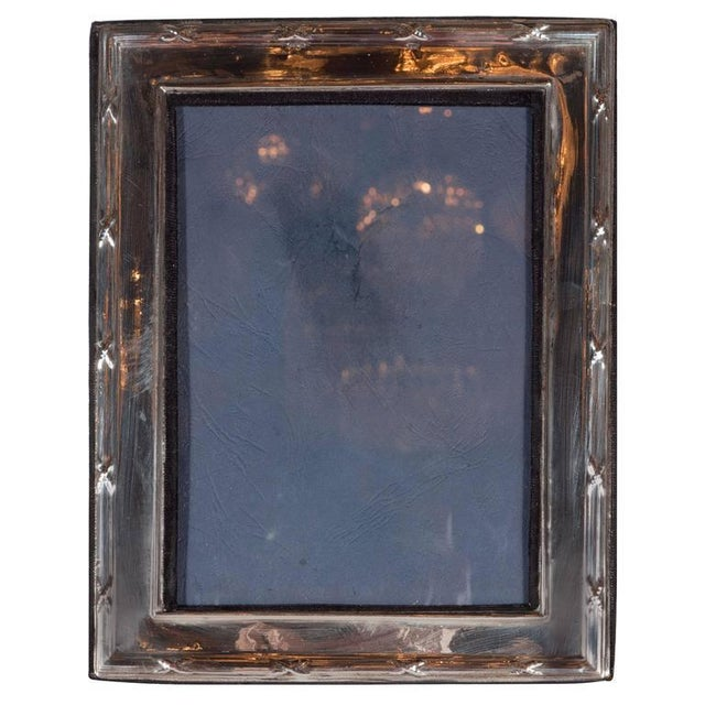 Metal Elegant Sterling Silver Ribbon and Reed Picture Frame For Sale - Image 7 of 7