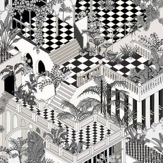 Cole & Son Miami Wallpaper Roll - Black/White For Sale
