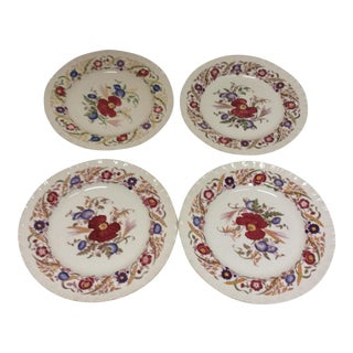 Wedgwood Floral Plates - Set of 4 For Sale