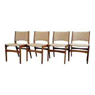 Vintage Danish Mid-Century Modern Erik Buch Dining Chairs- Set of 4 For Sale