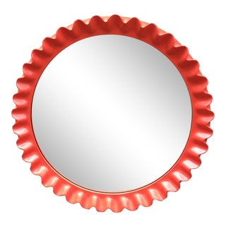 Persimmon Pie Crust Mirror For Sale