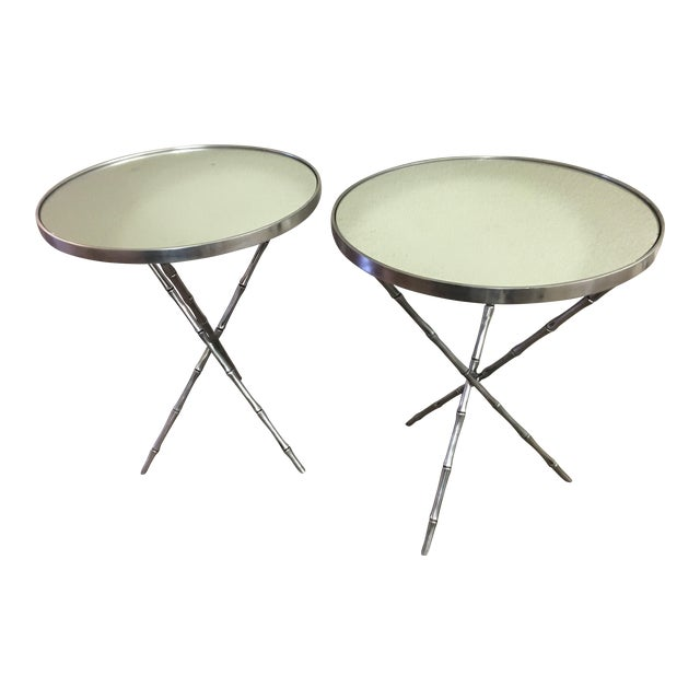 Emerson Bentley Bamboo Chairside Tables - A Pair - Image 1 of 4