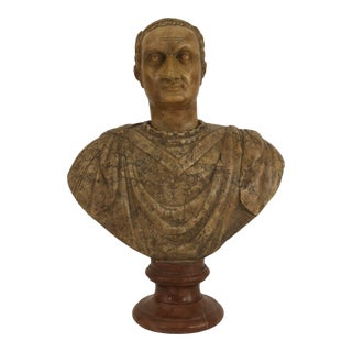 Italian Neo-Classic Style Marble Bust of Roman Emperor For Sale