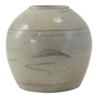 Antique Chinese Primitive Gray Vase
