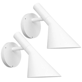 Arne Jacobsen AJ 50 Outdoor Wall Light for Louis Poulsen in White