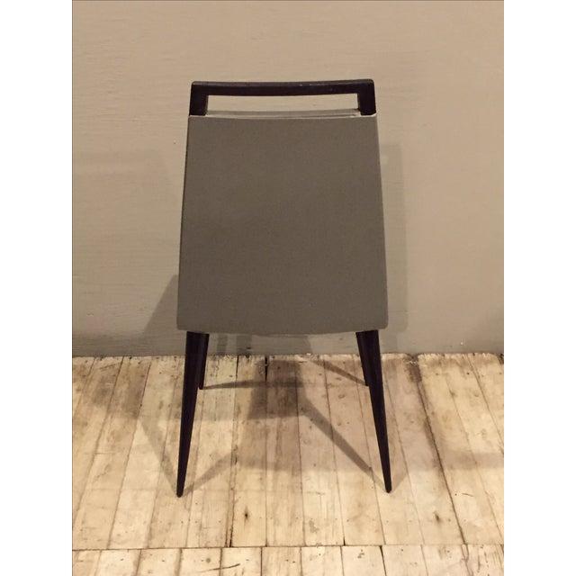 Vintage 1960s Mod Wood & Vinyl Chairs - 4 - Image 8 of 8