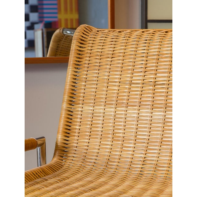 The Sled Lounge Chair designed by Ward Bennett for Brickel. An amazing 1960s accent chair. This wide chair design features...