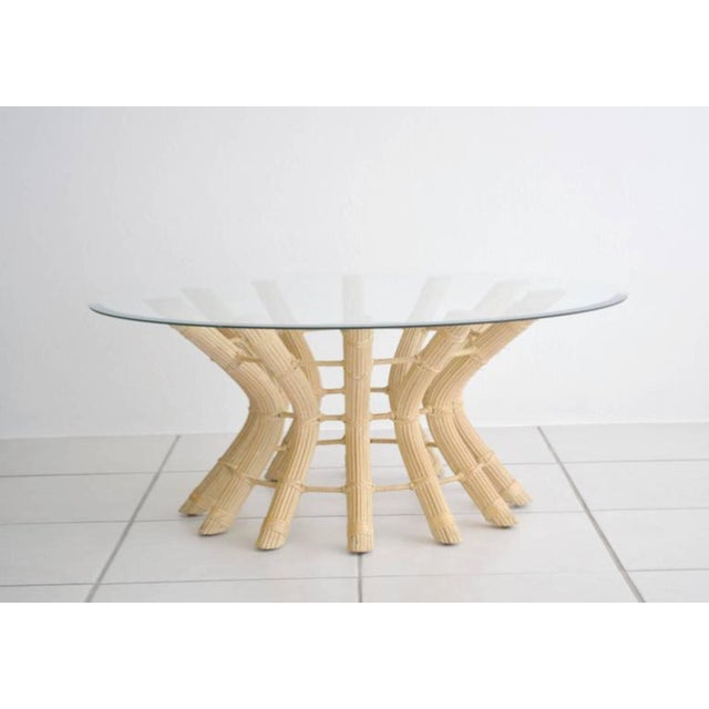 Sculptural Midcentury Rattan Cocktail Table For Sale - Image 4 of 8