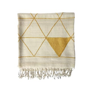 Leah Singh Silk & Wool Throw For Sale