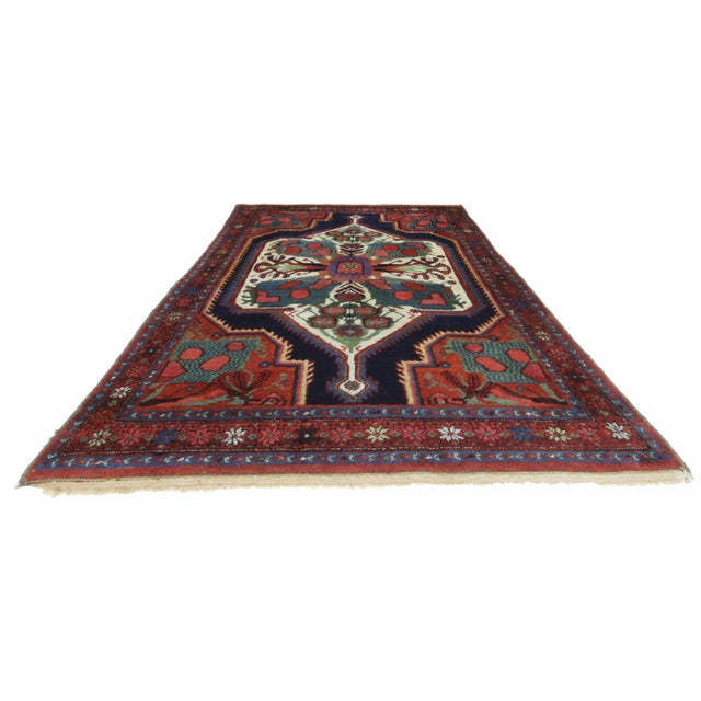 Islamic Antique Hand Knotted Wool Persian Baktiari - 4′5″ × 5′11″ For Sale - Image 3 of 3