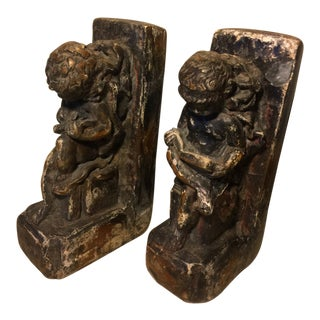 Vintage Antique French Bookends - a Pair For Sale