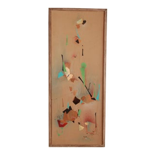 Mid Century Modern Abstract Paper Collage by Rosette Bakish For Sale