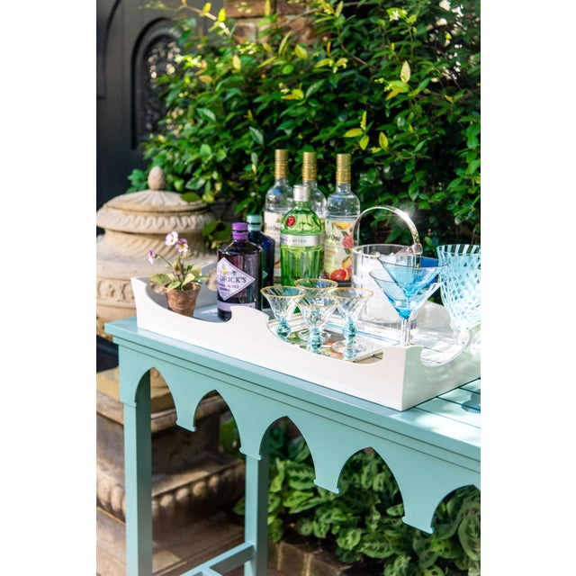 Oomph Oomph Ocean Drive Outdoor Console Tray, Green For Sale - Image 4 of 8