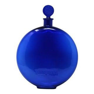 1920s Rene Lalique Glass 'Dans La Nuit' Blue Perfume Bottle For Sale