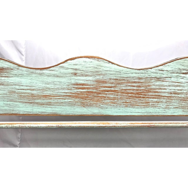 Wood Shabby Chic-Style Wall Plate Rack For Sale - Image 7 of 9