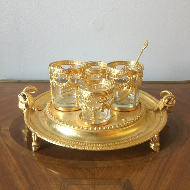 Vintage Italian Centerpiece With Ram's Heads For Sale - Image 9 of 9