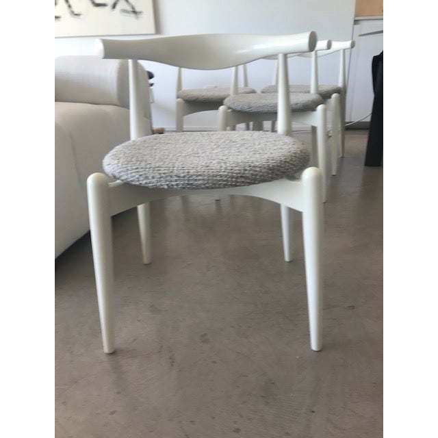 Modern Hans Wegner for Carl Hansen and Sons Original Ch20 Elbow Chairs- Set of 4 For Sale In Los Angeles - Image 6 of 13