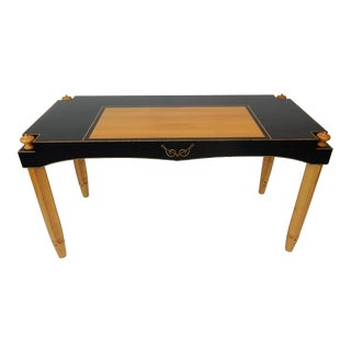 Large Biedermeier Style Writing Desk. Library Table. 55 Inches