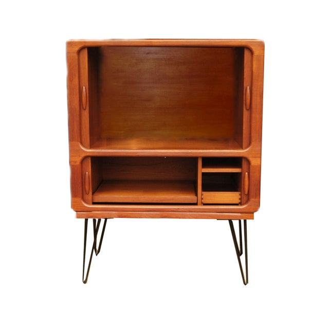 MCM Teak Cabinet With Tambour Doors by Dyrlund For Sale - Image 4 of 8
