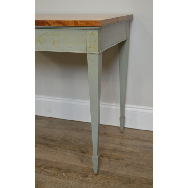 Schmieg & Kotzian Adams Hand Painted One Drawer Side Table For Sale - Image 10 of 12