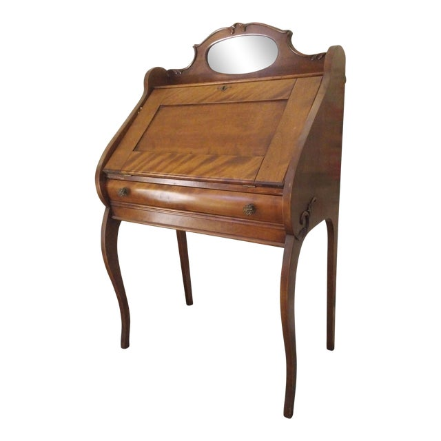 Cherry Petite Antique Writing Desk For Sale