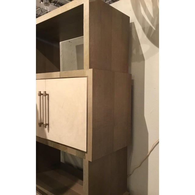 Gray Modern Henredon East End Gray and Taupe Etagere For Sale - Image 8 of 9