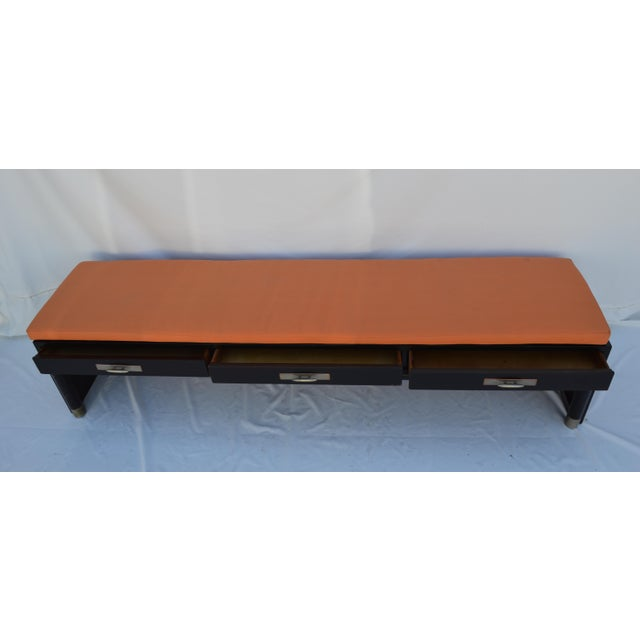 3-Drawer Coffee Table/Bench With Cushion - Image 3 of 11