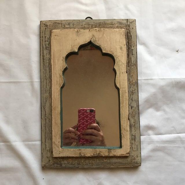 Vintage Indian Archway Painted Teak Mirror - Image 2 of 11