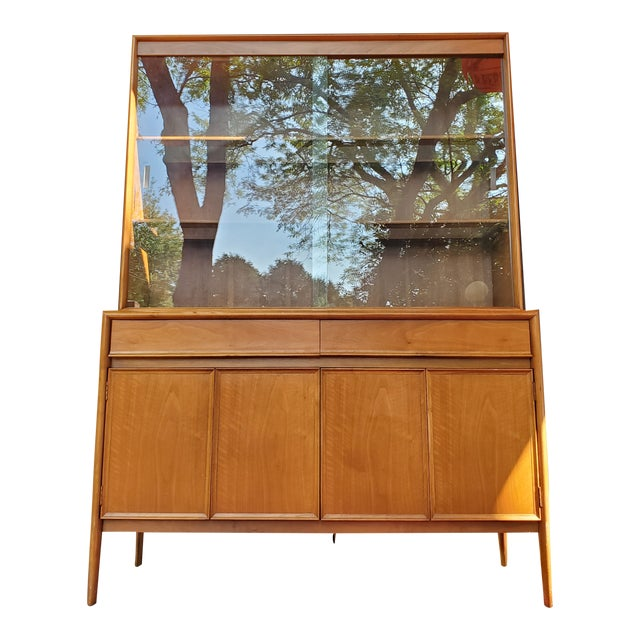 Drexel Mid-Century Modern Parallel China Cabinet For Sale