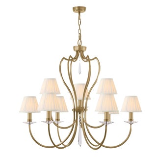 Pimlico Aged Brass Chandelier For Sale