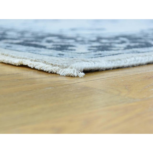 2010s Hand-Knotted Wool Turkish Knot Oushak Cropped Rug- 9′2″ × 11′10″ For Sale - Image 5 of 12