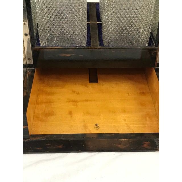 Purple Coromandel Wood Victorian Locking Decanter Box Tantalus Circa 1870s For Sale - Image 8 of 13