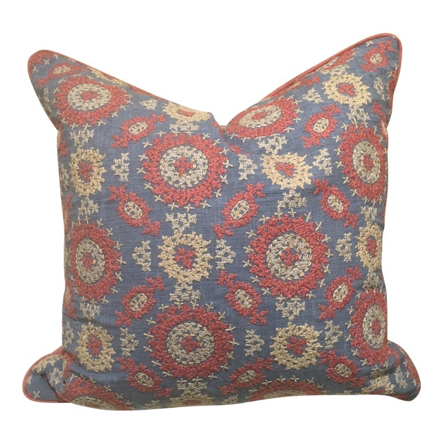 Ralph Lauren Layla Embroidery Pillow For Sale