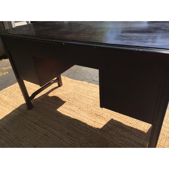 Dark Brown Vintage Bassett Desk - Image 7 of 9