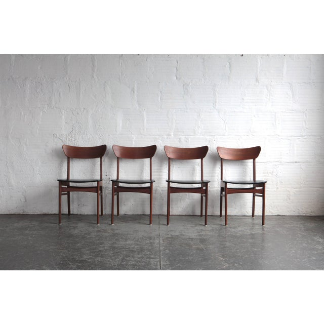 1960s Vintage Harry Ostergaard Style Dining Chairs - Set of 4 For Sale - Image 9 of 9