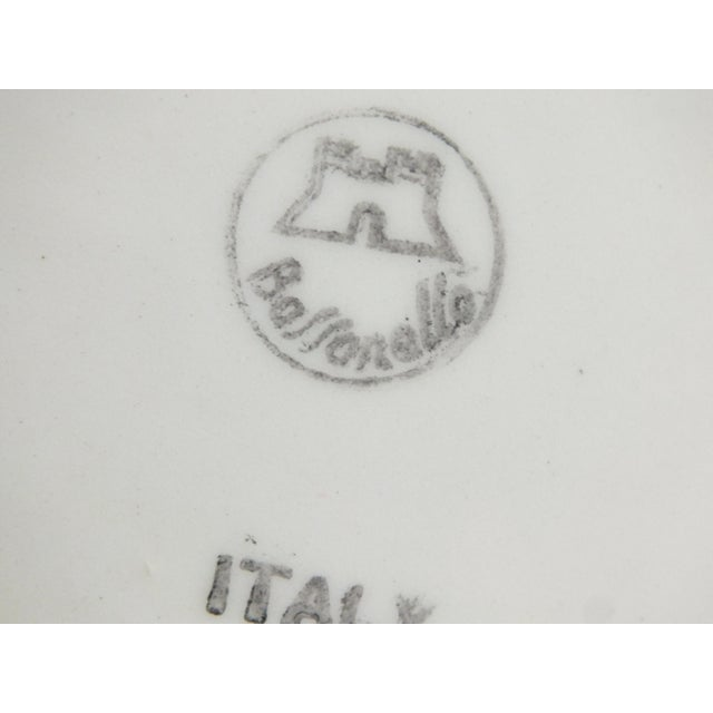 Ceramic Vintage Bassanello White Italian Planter Cache Pot For Sale - Image 7 of 7