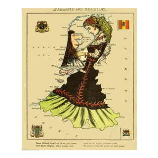 1869 Geographic Fun: Holland and Belgium as a Female Company For Sale