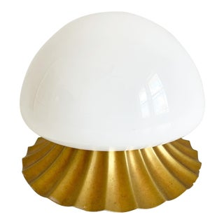 Midcentury Shell Flush Light For Sale