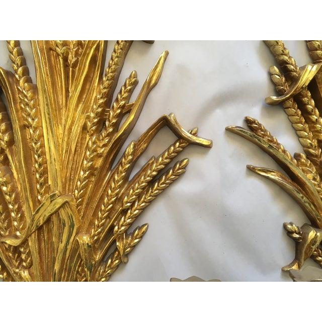 1971 Rococo Gold Flourish Sconces - a Pair - Image 4 of 8