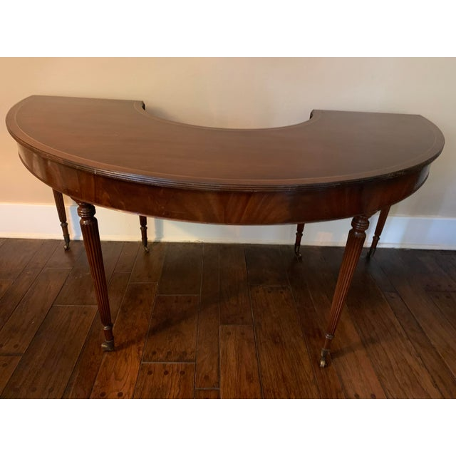 Solid Mahogany Hunt Table in the Federal Regency Style For Sale - Image 9 of 9