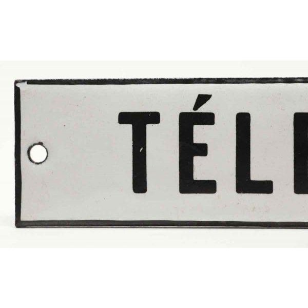 Enamel Telephone Sign - Image 2 of 3