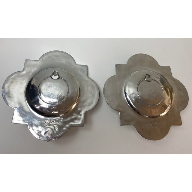 1980s Pierre Deux Pewter Wall Candle Sconces - a Pair For Sale - Image 5 of 13