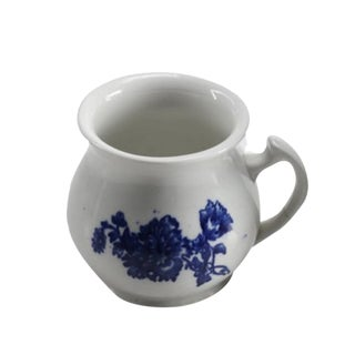 Blue & White Transferware Drinking Vessel