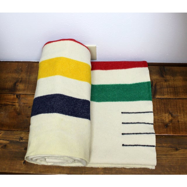 Authentic Hudson Bay 4 Point Vintage Blanket - Image 3 of 6
