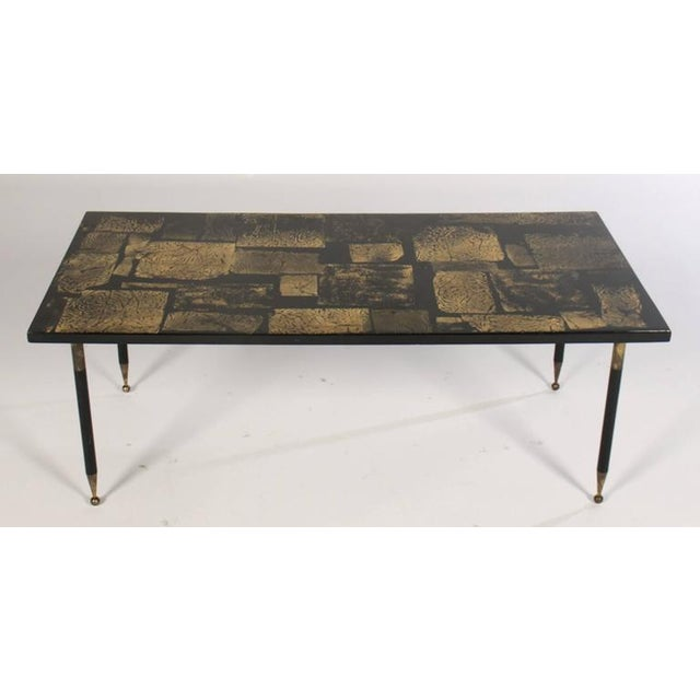 Italian Mid Century Modern Gold Coffee Table For Image 3 Of