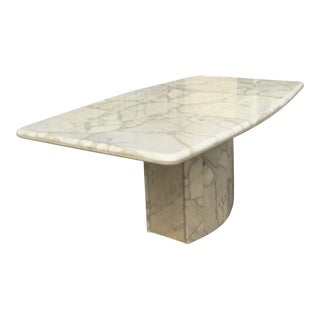 Solid Marble and Resin Dining Table For Sale