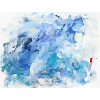"""Yolanda Sanchez """"Sea Changes 5"""" Abstract Oil Painting on Canvas For Sale"""
