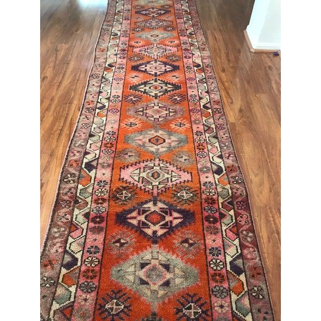 Antique Turkish Long Herki Runner Rug For Sale In Houston - Image 6 of 8